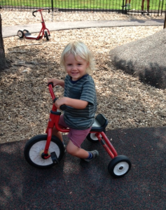 Summer Camp 2015 - toddlers on tricycles